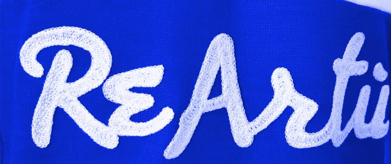 maglia lana vintage ricamo blu